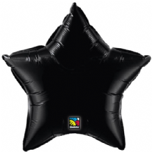 "Black Star Foil Balloon (36"") 1pc"